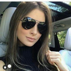 Authentic Ray Ban Aviator Black sunglasses